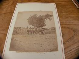 45  - Photo ,INDOCHINE, Cornacs Dans Un Enclos Avec Leur 2 Eléphants - Oud (voor 1900)