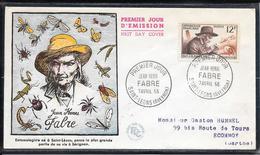 FDC 1956 - 1055  Inventeurs & Chercheurs Célèbres: Jean-Henry FABRE, Entomologiste - FDC