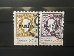 FRANCOBOLLI STAMPS PORTOGALLO PORTUGAL MADEIRA 1980 USED SERIE COMPLETA ANNIVERSARIO FIRST MADEIRA STAMP - Madeira