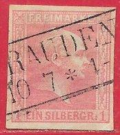 Prusse N°11 1S Rose 1850-58 O - Prussia