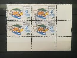 FRANCOBOLLI STAMPS PORTOGALLO PORTUGAL MADEIRA 1980 USED SERIE CONFERENZA PER TURISMO MANILA QUARTINA ANNULLO FUNCHAL - Madeira