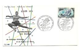 1971 - Francia 1665 Mondiali Di Pattinaggio FDC     14/35M - Pattinaggio Artistico