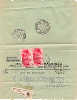ITALIA  Storia Postale  Regno   Posta Militare 3500   Coppia Cent. 75   Racc. - 1900-44 Vittorio Emanuele III