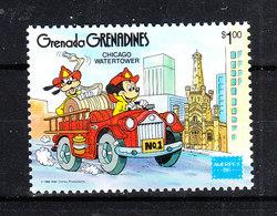 Grenadine  Grenada  -  1986. Topolino Pippo Auto Pompieri. Mickey And Goofy Firemen Car. MNH - Disney