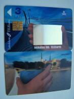 View Of Riga, Mirror  Chip Phone Card  From LATVIA Lettonie Lettland Carte Karte 3 Lati 06/2003 - Latvia
