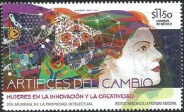 2018 MÉXICO Día Mundial De La Propiedad Intelectual,  MNH  World Intellectual Property Day,  Women - Mexico