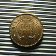 Uganda 5 Cents 1966 - Uganda
