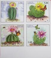 Tajikistan  2018  Cacti ( Butterflies,  Bees)  4 V  IMPERFORATED  MNH - Tajikistan