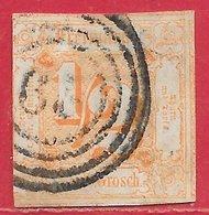 Tour & Taxis Du Nord N°16 0,5s Orange 1862-64 O - Tour Et Taxis