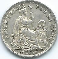 Peru - 1914 -½ Dinero - KM206.2 - Peru