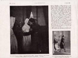 1926 Marseille Le Sultan Du Maroc Et Bey De Tunis   S.M.Moulaï Youssef  Ben Chabrit  Général Mougin -verso :Woerth TBE - Vieux Papiers