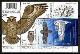 Finland 1998 Finlandia / Birds Owls MNH Vögel Búhos Aves Oiseaux / Cu13831  4 - Pájaros