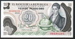 Colombia 20 Pesos 1982 AUNC/UNC - Colombia