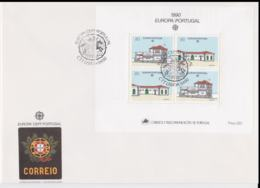 Portugal 1990 FDC Europa CEPT  Souvenir Sheet   (LAR5-69X) - Europa-CEPT