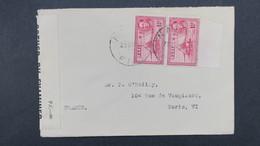 Censored Cover From Fiji  Navosa To France 1945 ( Censor P.C_90 ) , Lettre Censure De  Fidji 1945 Pour La France - Fidji (...-1970)