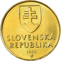 Monnaie, Slovaquie, 15th Century Of Madonna And Child, Koruna, 1993, SUP, Bronze - Slovaquie