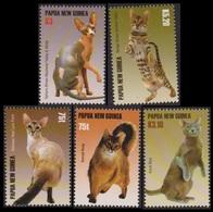 2005Papua New Guinea1156-1160Cats11,00 € - Hauskatzen