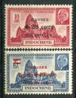 INDOCHINE (  POSTE )  Y&T  N°  294/295  TIMBRES  NEUFS  SANS  TRACE  DE  CHARNIERE . - Neufs