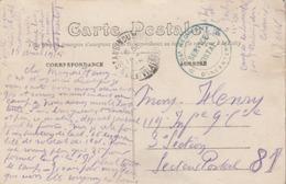 CP En FM Avec Cachet Du 106è Régiment * D'Infanterie * De St. Aubin Du Cormier ( I. Et V.) Camp De La Lande D'Ouée. - Marcophilie (Lettres)