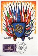Chypre. Carte Maximum. Europa 1963 - Chypre (République)