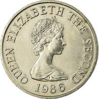Monnaie, Jersey, Elizabeth II, 10 Pence, 1986, TTB, Copper-nickel, KM:57.1 - Jersey