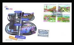 AC - TURKEY FDC -  THE CITIES # 18 ANKARA 23MAY 2008 - 1921-... Repubblica