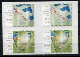 RC 13096 FRANCE N° 128 / 4080 COUPE DU MONDE DE RUGBY AUTOADHÉSIF BLOC DE 4 COTE 40,00€ TB - Adhesive Stamps