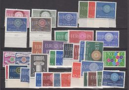 Europa Cept 1960 Year Set 20 Countries 36 Values ** Mnh (original Gum !!!) (43288) - 1960