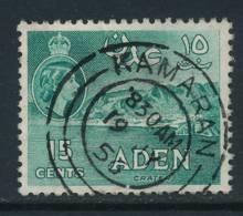 ADEN, 1953 15c With Postmark KAMARAN, Rare! - Aden (1854-1963)
