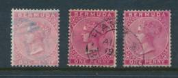 BERMUDA, 1883 1d 3 Shades As In SG Fine Used, SG23,24,24a - Bermuda