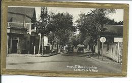 St-Gilles-sur-Vie-La Route De La Plage-photo 8cm Sur 13,50cm Collée Sur Carton - Places