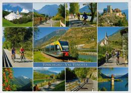 ITALIA - VAL  VENOSTA        TRAIN - ZUG-TREIN- -TRENI- GARE -BAHNHOF- STATION- STAZIONE-    2  SCAN     (VIAGGIATA) - Trains