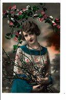CPA - Carte Postale Pays Bas -Jeune Dame Entourée De Fleurs-1932 VM4000 - Vrouwen
