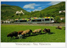 ITALIA - VAL  VENOSTA        TRAIN - ZUG-TREIN- -TRENI- GARE -BAHNHOF- STATION- STAZIONE-    2  SCAN     (NUOVA) - Treni