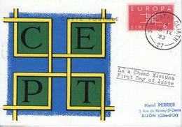 Irlande. Carte Maximum. Europa 1963 - Cartoline Maximum