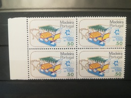 FRANCOBOLLI STAMPS PORTOGALLO PORTUGAL MADEIRA 1980 MNH** NUOVI SERIE CONFERENZA PER TURISMO MANILA QUARTINA - Madeira