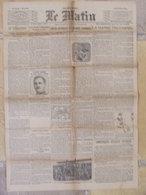 Journal Le Matin (25 Mai 1916) Après Reprise Fort Douaumont - Roi Nicolas Monténégro - Vie Chère - Autres