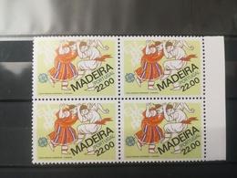 FRANCOBOLLI STAMPS PORTOGALLO PORTUGAL MADEIRA 1981 MNH** NUOVI EUROPA FOLKLORE QUARTINA - Madeira