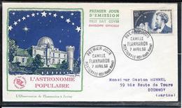 FDC 1956 - 1057  Inventeurs & Chercheurs Célèbres: Camille FLAMMARION Astronome - FDC