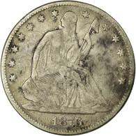 Monnaie, États-Unis, Seated Liberty Half Dollar, Half Dollar, 1876, U.S. Mint - Federal Issues