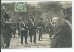 Voyage à La Roche Sur-Yon De M.Clemenceau Le30 Sept 1906-Le Ministre Allant Prendre La Tête Du Cortège - La Roche Sur Yon