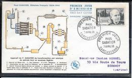 FDC 1956 - 1058  Inventeurs & Chercheurs Célèbres: Paul SABATIER Chimiste - 1950-1959