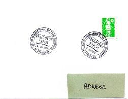 DORDOGNE - Dépt N° 24 = PERIGUEUX 1994 = CACHET Illustré  ' Salon Du Livre Gourmand ' - Marcophilie (Lettres)