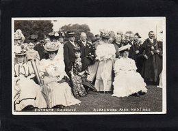 HASTINGS - ALEXANDRA PARK -ENTENTE CORDIALE 1906 - BELLE CARTE PHOTO ANIMEE -impeccable - Hastings