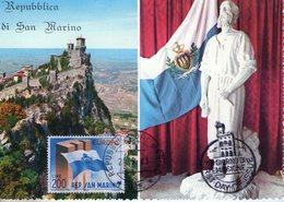 Saint Marin. Carte Maximum. Europa 1963 - Lettres & Documents