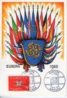 Turquie. Carte Maximum. Europa 1963 - 1921-... République