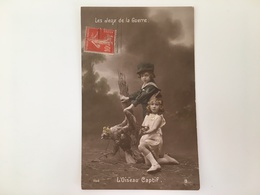 AK Les Deux De La Guerre L'oiseau Captif Propaganda German Eagle - Guerre 1914-18