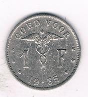 1 FRANC 1935 VL BELGIE /5038/ - 04. 1 Franc