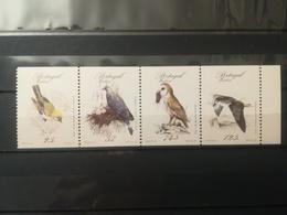 FRANCOBOLLI STAMPS PORTOGALLO PORTUGAL MADEIRA 1987 MNH** NUOVI  SERIE COMPLETA RARE BIRDS UCCELLI RARI IN BLOCCO - Madeira