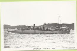 COUREUR  Torpilleur  1899  / Photo Marius Bar, Toulon / Marine - Bateaux - Guerre - Militaire - Guerre